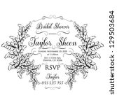 bridal invitation | Shutterstock .eps vector #129503684