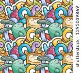seamless vector pattern with... | Shutterstock .eps vector #1295039869