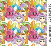 seamless vector pattern with... | Shutterstock .eps vector #1295039890