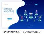 isometric referral marketing ... | Shutterstock .eps vector #1295040010