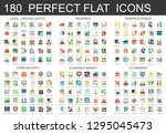 180  complex flat icons concept ... | Shutterstock . vector #1295045473