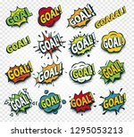 scored goal sticker  hit the... | Shutterstock . vector #1295053213