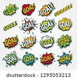 scored goal sticker  hit the... | Shutterstock . vector #1295053213