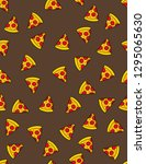 piece of pizza funny vector...   Shutterstock .eps vector #1295065630