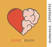 heart and brain flat modern...   Shutterstock .eps vector #1295065933
