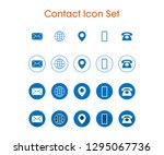 contact icon set with 4... | Shutterstock .eps vector #1295067736