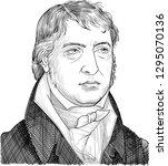 friedrich hegel  1770 1831 ... | Shutterstock .eps vector #1295070136