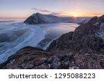 winter evening on lake baikal | Shutterstock . vector #1295088223