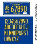 plate number font vector mockup | Shutterstock .eps vector #1295090029