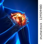 shoulder pain   anatomy concept | Shutterstock . vector #129509480