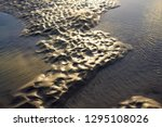 the last rays of the setting... | Shutterstock . vector #1295108026