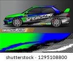 rally car livery design vector. ... | Shutterstock .eps vector #1295108800