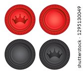 checkers board game pieces... | Shutterstock .eps vector #1295130049