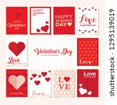 valentine's day cards. tags ... | Shutterstock .eps vector #1295139019
