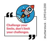 challenge your limits  don't... | Shutterstock .eps vector #1295141200