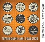 vector set  vintage happy... | Shutterstock .eps vector #129514730