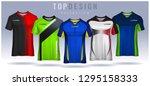 t shirt sport design template ... | Shutterstock .eps vector #1295158333