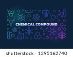 chemical compound colorful... | Shutterstock .eps vector #1295162740