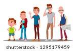 caucasian generation male... | Shutterstock .eps vector #1295179459