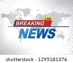 breaking news with world map... | Shutterstock .eps vector #1295181376