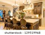 modern dining room in luxury...   Shutterstock . vector #129519968