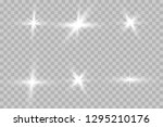 white glowing light explodes on ... | Shutterstock .eps vector #1295210176