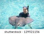 Fun Swimming With The Stingrays