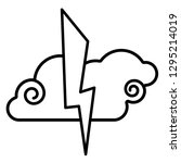 Cloud  Lightning Icon. Line Ar...