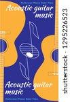 acoustic guitar music. template ... | Shutterstock .eps vector #1295226523