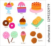 cute sweet dessert collection | Shutterstock .eps vector #1295232979