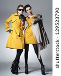 vogue style photo of a two... | Shutterstock . vector #129523790
