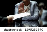 female official refuses to take ... | Shutterstock . vector #1295251990