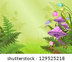 magic landscape with mushrooms ...