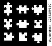 jigsaw puzzles vecor | Shutterstock .eps vector #1295259880
