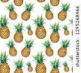seamless watercolor pattern... | Shutterstock . vector #1295268466
