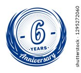 6 years anniversary. elegant... | Shutterstock .eps vector #1295272060