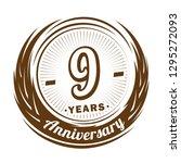 9 years anniversary. elegant... | Shutterstock .eps vector #1295272093