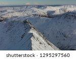 Snowy Striding Edge  Closeup...