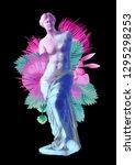classical full lengths statue...   Shutterstock . vector #1295298253
