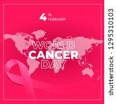 february 4  world cancer day... | Shutterstock .eps vector #1295310103