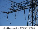 power pole and blue sky | Shutterstock . vector #1295319976