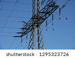 power pole and blue sky | Shutterstock . vector #1295323726