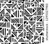geometric seamless hand draw... | Shutterstock . vector #1295327983