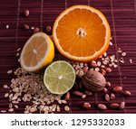 products for healthy food  ... | Shutterstock . vector #1295332033
