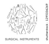 a small set of surgical medical ... | Shutterstock .eps vector #1295336269
