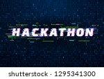 hackathon background. hack... | Shutterstock .eps vector #1295341300