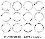 stardust frames. shiny star... | Shutterstock .eps vector #1295341390