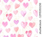 seamless pattern with bright... | Shutterstock . vector #1295353150