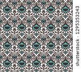 ikat geometric folklore... | Shutterstock .eps vector #1295353243