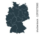 germany map on white background ... | Shutterstock .eps vector #1295375383